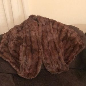 Fur shawl in good condition, medium/large  in size